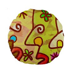 Abstract Faces Abstract Spiral Standard 15  Premium Round Cushions