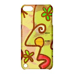 Abstract Faces Abstract Spiral Apple iPod Touch 5 Hardshell Case with Stand