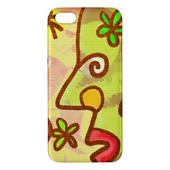 Abstract Faces Abstract Spiral Apple Iphone 5 Premium Hardshell Case