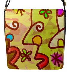 Abstract Faces Abstract Spiral Flap Messenger Bag (S)
