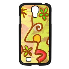 Abstract Faces Abstract Spiral Samsung Galaxy S4 I9500/ I9505 Case (black)
