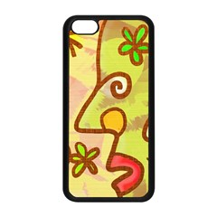 Abstract Faces Abstract Spiral Apple Iphone 5c Seamless Case (black)