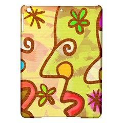 Abstract Faces Abstract Spiral Ipad Air Hardshell Cases