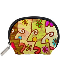 Abstract Faces Abstract Spiral Accessory Pouches (small)
