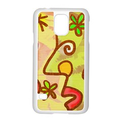 Abstract Faces Abstract Spiral Samsung Galaxy S5 Case (white)