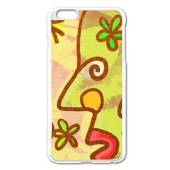 Abstract Faces Abstract Spiral Apple Iphone 6 Plus/6s Plus Enamel White Case