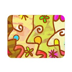 Abstract Faces Abstract Spiral Double Sided Flano Blanket (mini)