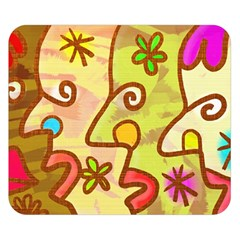 Abstract Faces Abstract Spiral Double Sided Flano Blanket (small)