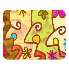 Abstract Faces Abstract Spiral Double Sided Flano Blanket (large)