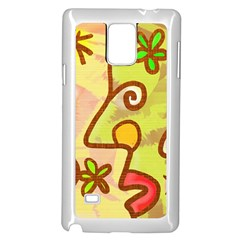 Abstract Faces Abstract Spiral Samsung Galaxy Note 4 Case (white)