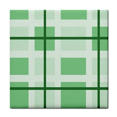 Abstract Green Squares Background Tile Coasters
