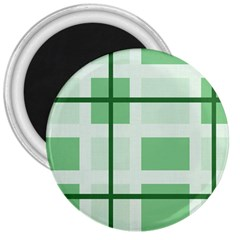 Abstract Green Squares Background 3  Magnets