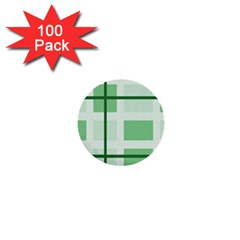 Abstract Green Squares Background 1  Mini Buttons (100 pack)