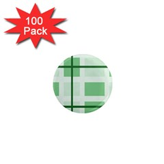 Abstract Green Squares Background 1  Mini Magnets (100 Pack)