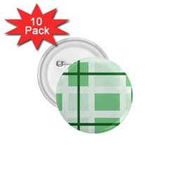 Abstract Green Squares Background 1 75  Buttons (10 Pack)
