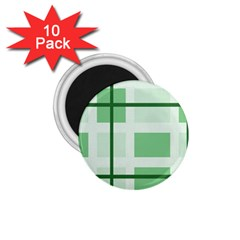 Abstract Green Squares Background 1 75  Magnets (10 Pack)