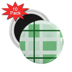 Abstract Green Squares Background 2.25  Magnets (10 pack)