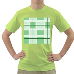 Abstract Green Squares Background Green T-Shirt