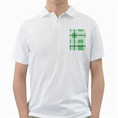 Abstract Green Squares Background Golf Shirts