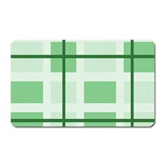 Abstract Green Squares Background Magnet (rectangular)