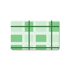 Abstract Green Squares Background Magnet (name Card)