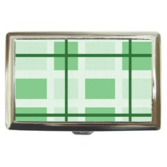 Abstract Green Squares Background Cigarette Money Cases