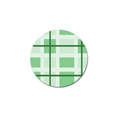 Abstract Green Squares Background Golf Ball Marker (10 Pack)