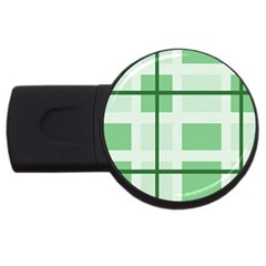 Abstract Green Squares Background Usb Flash Drive Round (2 Gb)