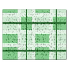 Abstract Green Squares Background Rectangular Jigsaw Puzzl