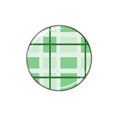 Abstract Green Squares Background Hat Clip Ball Marker (4 pack)