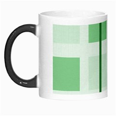 Abstract Green Squares Background Morph Mugs