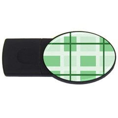 Abstract Green Squares Background Usb Flash Drive Oval (4 Gb)