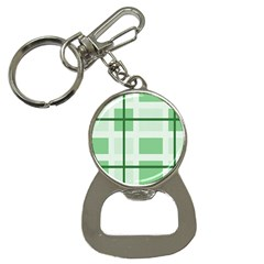 Abstract Green Squares Background Button Necklaces