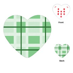 Abstract Green Squares Background Playing Cards (heart)