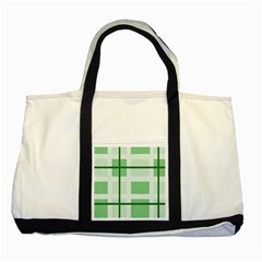 Abstract Green Squares Background Two Tone Tote Bag