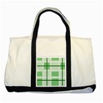 Abstract Green Squares Background Two Tone Tote Bag Front