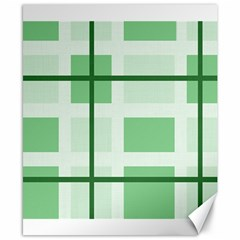 Abstract Green Squares Background Canvas 8  X 10