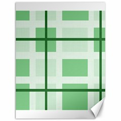 Abstract Green Squares Background Canvas 12  X 16