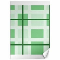 Abstract Green Squares Background Canvas 12  x 18