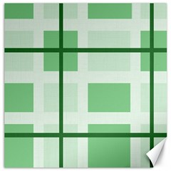 Abstract Green Squares Background Canvas 16  X 16