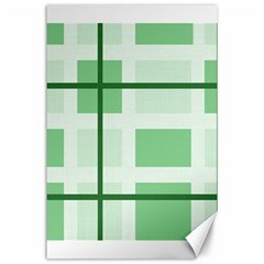 Abstract Green Squares Background Canvas 24  X 36