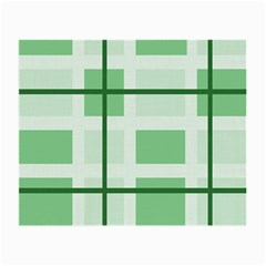 Abstract Green Squares Background Small Glasses Cloth (2 Side)
