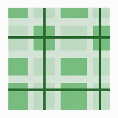 Abstract Green Squares Background Medium Glasses Cloth (2 Side)