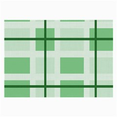 Abstract Green Squares Background Large Glasses Cloth