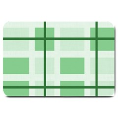Abstract Green Squares Background Large Doormat