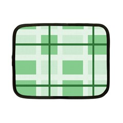 Abstract Green Squares Background Netbook Case (small)