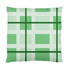 Abstract Green Squares Background Standard Cushion Case (two Sides)