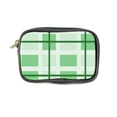Abstract Green Squares Background Coin Purse