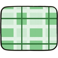 Abstract Green Squares Background Double Sided Fleece Blanket (mini)