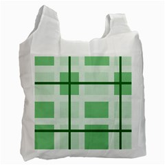 Abstract Green Squares Background Recycle Bag (two Side)